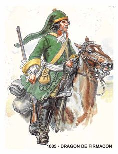 French; Dragoon Regiment Fimacon. 1685