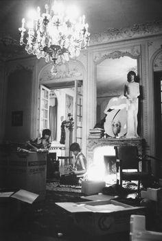 Keith and Mick rehearsing, Villa Nellcôte | Dominique Tarle, 1971