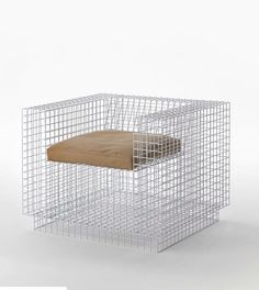 #Repost @ignant with @repostapp.  A grid armchair from The Framing Collection by @virgilabloh #design #furniture #armchair by modt___