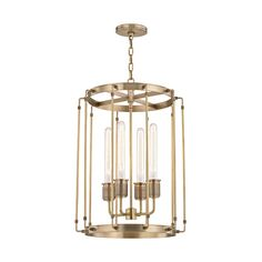 Hyde Park 4 Light Pendant  Contemporary, Metal, Pendant by Hudson Valley Lighting