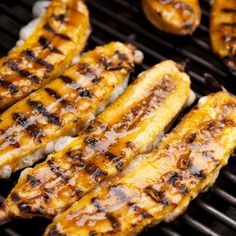 Editor's note: Chef, nutritionist, and cooking teacher Lourdes Castro shared this recipe from her cookbook, Latin Grilling. It's part of a festive Cuban party menu she created for Epicurious. Plantains, ripe or unripe, are a staple of Cuban cooking. And while everyone loves the ripe ones (maduros), no one ever wants to make them. Typically deep-fried, they are a mess to make and never seem to come out with that candylike coating you get at good restaurants. This recipe solve...