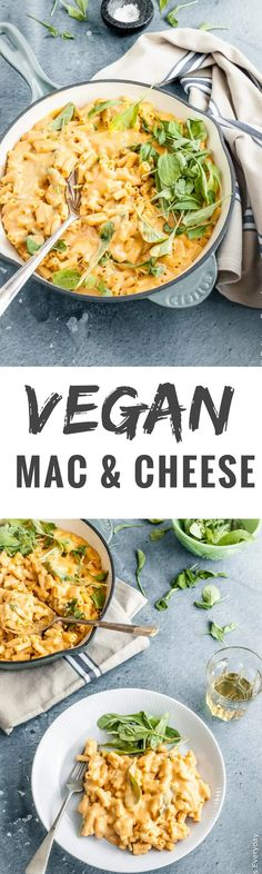 A Vegan Mac and Cheese that you don't need to feel guilty about! This healthy cauliflower and butternut squash mac and cheese contains hidden veggies but it is so creamy and delicious that you'd never know. And it's ready in under 30 minutes from start to finish! via @deliciouseveryday