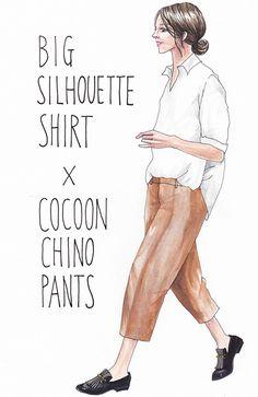 ブラウジングコーデ Japan Fashion, Daily Fashion, Tokyo Street Style, Colored Pants, Evening Outfits, Work Pants, Fashion Line, Fashion Art, Art Hoe