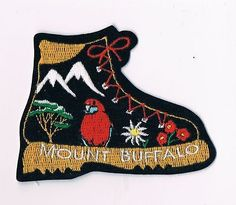 CLOTH BADGE MOUNT BUFFALO • Sold for $56.00