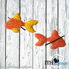 FREE ITH Goldfish bobby pin cover embroidery design