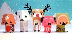 """Juguetesenpapel, conocido por su término en inglés""""Paper Toys""""está siendoúltimamente muy utilizado, tanto pordiseñadorescomo por ilustradores."""