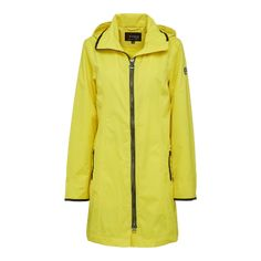 Dieser Regenmantel von NORMANN ist ganz leicht und perfekt für das Frühjahr, den Sommer und Herbst geeignet. Er ist innen gefüttert und hat einen langen zwei Wege Reißverschluß in Schwarz vorn sowie zusätzlich verschweißte Nähte. Die Kaputze kann nicht abgenommen werden. Sie kann in der Weite angepasst werden. Auf der Vorderseite befinden sich zwei schräge Eingrifftaschen mit Reißverschluß. Rain Jacket, Windbreaker, Raincoat, Jackets, Fashion, Long Raincoat, Spring Summer, Fall Winter, Yellow