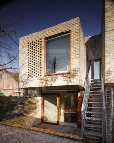 Mews Houses Dublin Ireland Architect Grafton Architects 2009 View of back facade showing cantilever