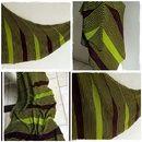 Flabellum - Dreiecktuch - seitwärts gestrickt  -Dieses Tuch wird von der rechten Spitze aus seitwärts zur langen Seite gestrickt. Der (in Strickrichtung) rechte Rand während des Strickens bildet...
