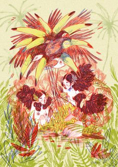 "TAMARIT - Did this illustration for an expo. ""Tropical"" was..."