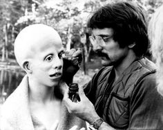 """"""" Tom Savini working on the makeup of the child Jason Voorhees (Ari Lehman). """"The Six Faces of Jason"""" (behind the scenes). Horror Show, Horror Films, Paranormal, Adrienne King, Tom Savini, Special Effects Makeup Artist, Makeup Masters, Dream Warriors, Happy Friday The 13th"""