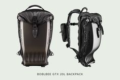 Boblbee GTX 20L backpack—which not only carries your laptop, but also doubles as the world's most effective back protector.