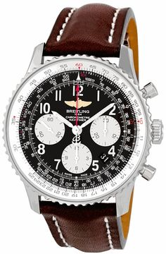 Breitling Navitimer 01 Stainless Steel Leather Automatic Mens Watch