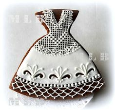 lace dress cookie