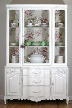White French China Cabinethold for Susan by LaVantteHome on Etsy