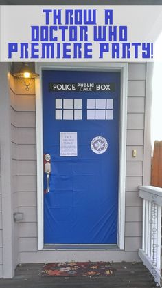 Throw a Doctor Who Season Premier Party Lots of recipes and ideas! #Doctorwho #theultimateparty - Week 12