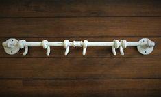 Cast Iron MERMAID Towel Hooks Hat Rack Nautical Swimming Pool Hook BROWN
