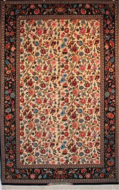 Rug Number: 205-3041 Size: 5' X 7' Style: Esfahan Type: Esfahan Origin: Persian/Iran Age: Circa 1990's Color: Beige Content: Silk & Wool Construction: Hand Knotted