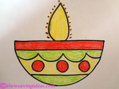Life can be a tough sometimes….I had a runny nose , sore throat,sinus pain et… Life can be difficult sometimes … Easy Art For Kids, Easy Drawings For Kids, Drawing For Kids, Diwali For Kids, Diwali Craft, Diwali Diya, Diy Crafts For Gifts, Crafts For Kids, Arts And Crafts