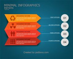 Free PSD Minimal Infographic Template
