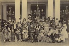 Deendayal and his photographers took more than 30,000 photographs of architecture, landscapes and people. This is Deendayals picture of guests at a fancy dress ball taken in Hyderabad in February 1890.