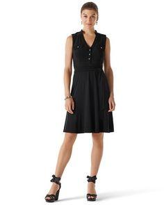 White House   Black Market Sleeveless Knit Shirtdress #whbm