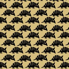 armadillo fabric by sufficiency on Spoonflower - custom fabric