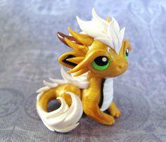 Gold Dragon by DragonsAndBeasties on Etsy