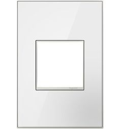 I love the crisp and clean white wall plate that is attractive and modern.  #beautifulswitch