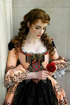 "Anne O'Byrne as Christine Daae in 'Phantom of the Opera' This costume is used for ""Past the Point of No Return"" (But I think there are a lot of story possibilities)"