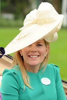 Autumn Phillips in a Gina Foster 'Primula' hat at Ladies day, Royal Ascot. #passion4hats
