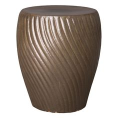 This Spiral ceramic garden stool with a Metallic Taupe glaze is the perfect touch to any indoor or outdoor space. It can be used as a small side table, an extra-seat or as a planter pedestal. This collection offers the best combination of design and Spiral Garden, Bamboo Garden, Vanity Seat, Vanity Chairs, Flora Garden, Ceramic Garden Stools, Office Chair Without Wheels, Reception Seating, Small Tables