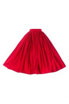 Pinup Girl Clothing Jenny Plain Swing Skirt