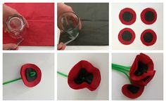 Mocka Anazac Poppy Flower Craft - Great one for the little Kiwis and Aussies.