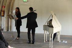 Concert 30 september 2012 Metaalkathedraal Utrecht.                           Concert fluit, hobo en clavecimbel