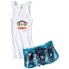 Paul Frank for Target® Juniors Julius Tank/Boxer Set - White/Teal.Opens in a new window Target Juniors, Paul Frank, Boxer, Cute Outfits, Teal, Window, My Style, Swimwear, Summer