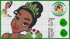 Tiana perler bead pattern by Carina Cassol -