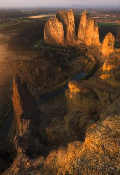 S is for Smith - Smith Rock, Oregon by Ted Gore