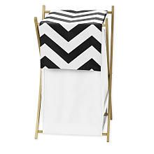 Sweet Jojo Design Black and White Chevron Collection Laundry Hamper