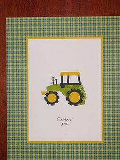 john deere tractor Activity for party? Or have all pieces in a bag as a send home favor?