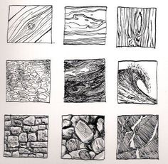 Kinnon Elliott Illustration: Pen and Ink Texture Thumbnails