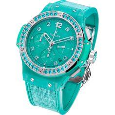 Luxury Hublot Big Bang 41mm Linen Turquoise Watch 341.XL.2770.NR.1237