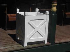 WHITE PAINTED HARDWOOD PLANTER BOXES..SUIT 30CM POT.  ON SALE! $60 OFF!!  $89 The Porch