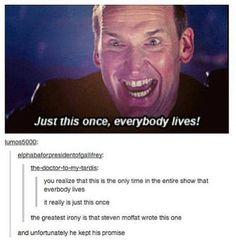 He was warning us. Moffat was warning us!