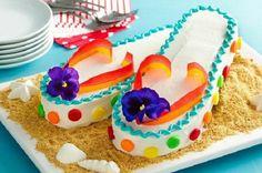 Comment faire un gâteau flip-flops!   Trucs et Bricolages