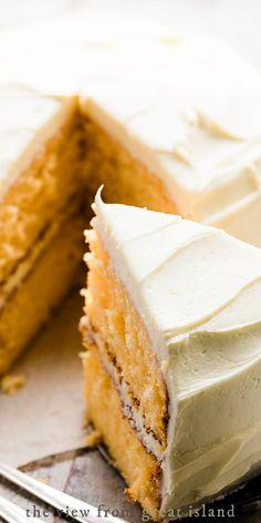 No Bake Desserts, Just Desserts, Delicious Desserts, Yummy Food, Orange Creamsicle Cake Recipe, Cake Cookies, Cupcake Cakes, Cream Cake, Ice Cream