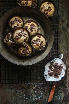Hazelnut and Chocolate Chunk Friands (Financiers)