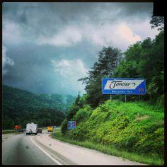 Kentucky/Tennessee Border in Jellico, TN
