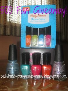 Polished Paradise: 500 Fan Giveaway! ends 8-1
