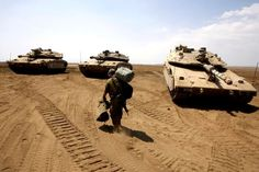 3 Merkava Mk 4 tanks and one Israeli soldier :)
